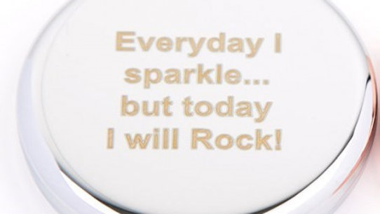 Everyday I Sparkle Compact Mirror