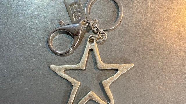 Metal Star Keyring