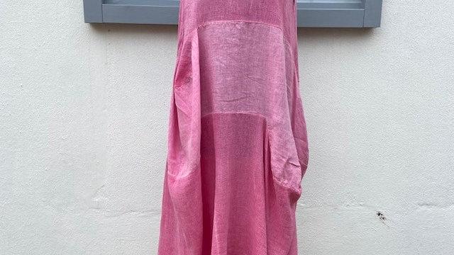 Pink Honeycomb Tulip Dress
