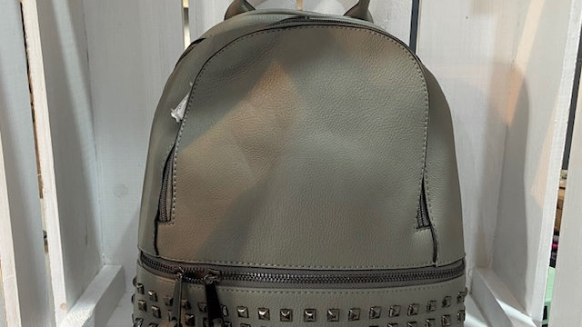 Small Pleather Studded Ruc Sac