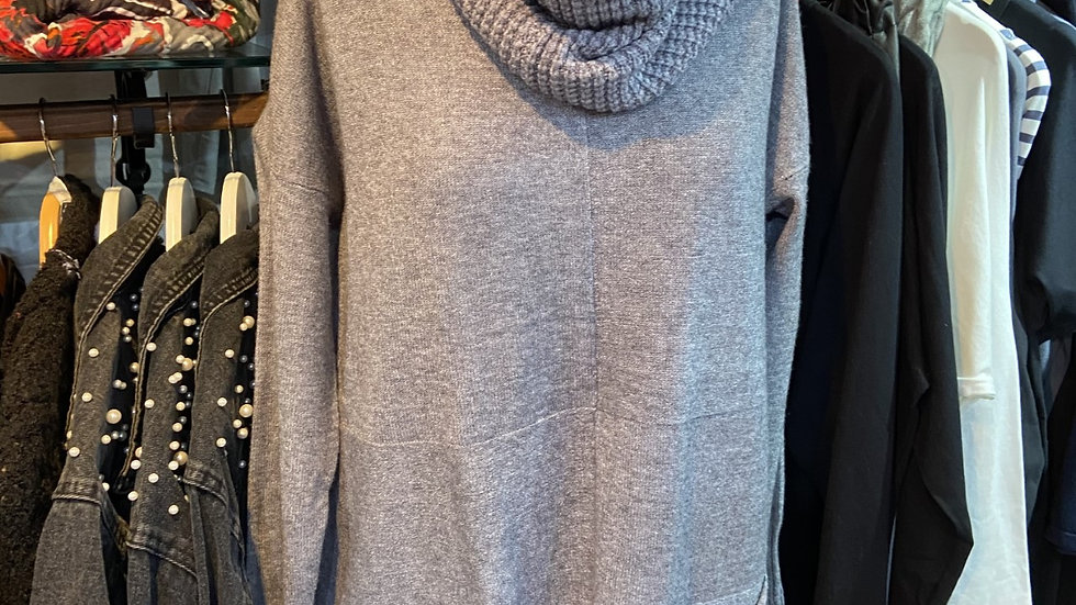Soft Tunic Jumper with Detachable Snood