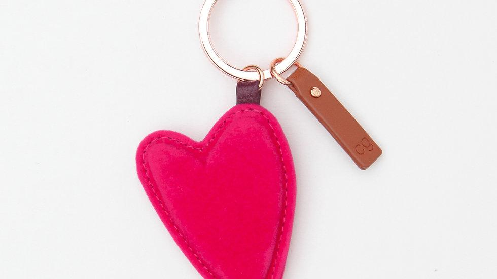 Vibrant Pink Heart Key Ring