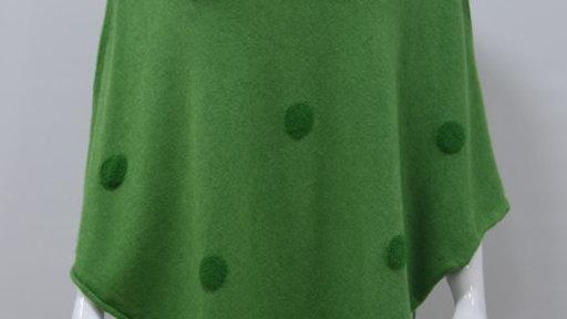 Black Knit Poncho/Wrap with spots
