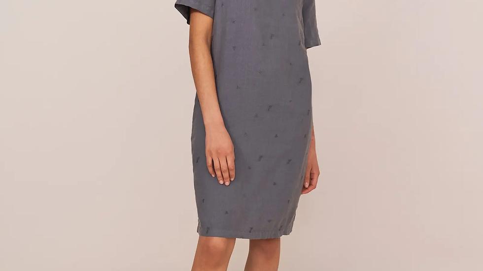 Grey Bonita Linen Dress
