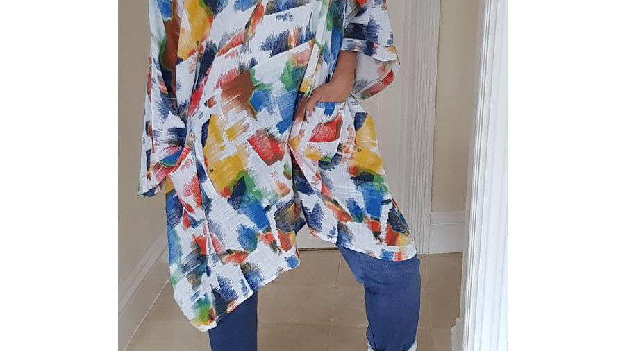 Painters 100% Cotton Tunic with Front Pockets