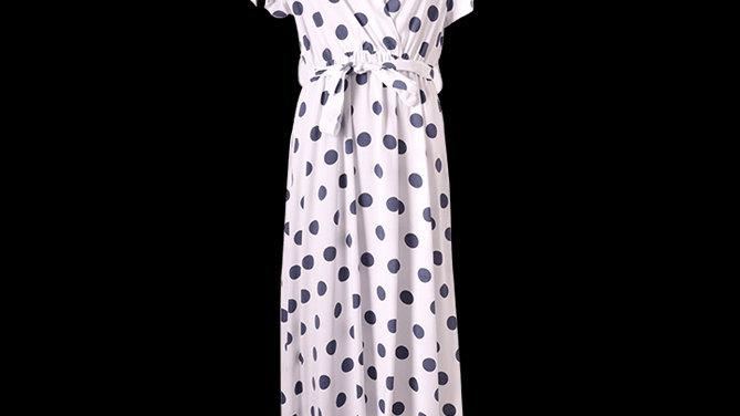 White Spotty Summer Dress
