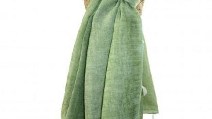 Mint Green Plain Scarf With Tassel Edge