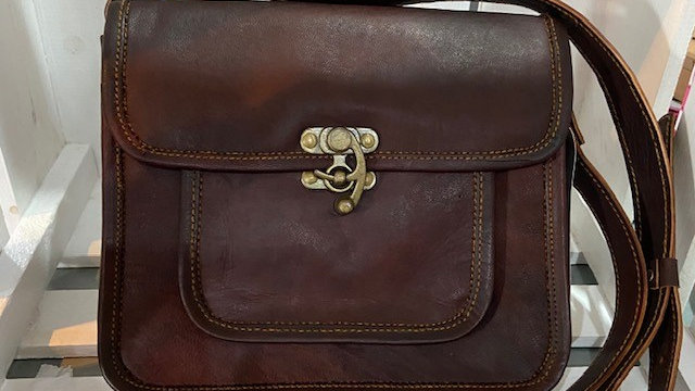 Real Leather Brown Cross Body Bag