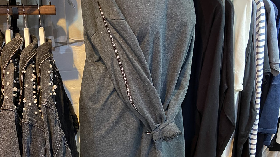 GreyTunic with Size Zip On The Arm