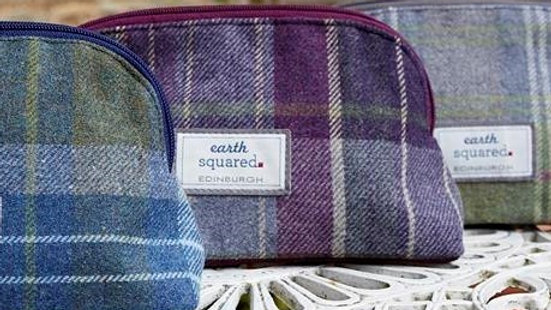 Tartan Print Make Up Bag