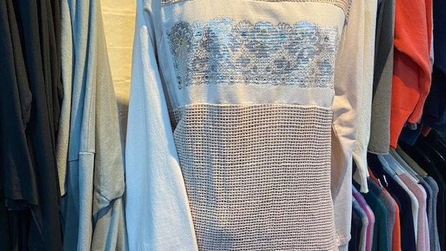 Luxury Pink Crochet Back Sweat