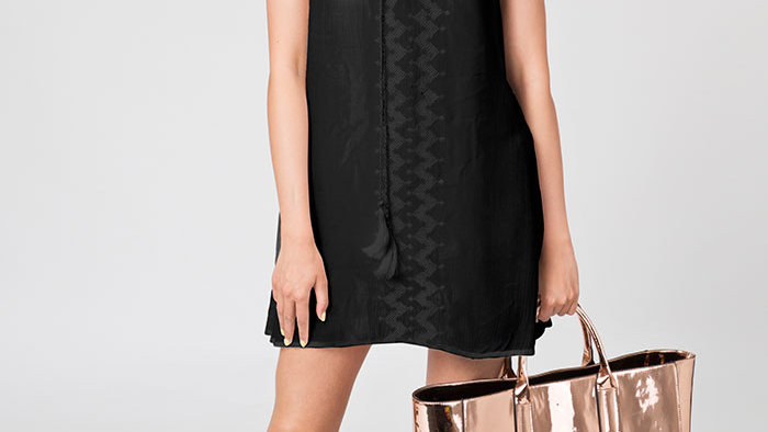 Black Tassel Embroidery Tunic/Cover Up