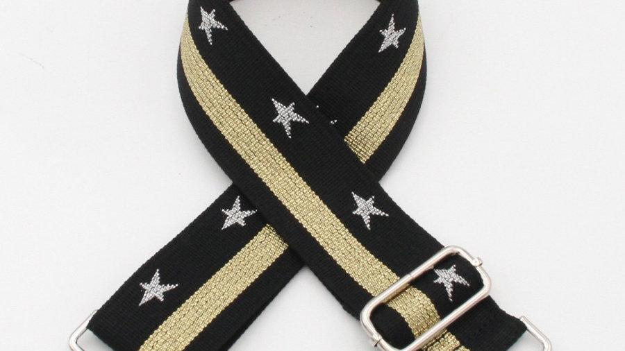 Black & Gold, Stars & Stripes Bag Straps