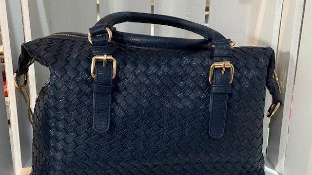Weave Buckle Handbag