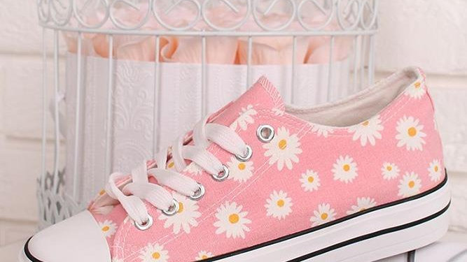 Pink Daisy Pumps