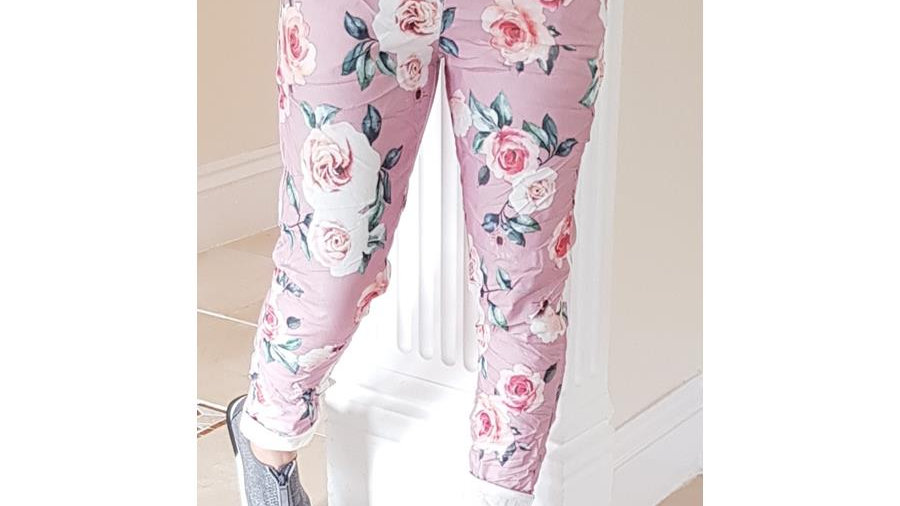 Pink Floral Lounge Trousers