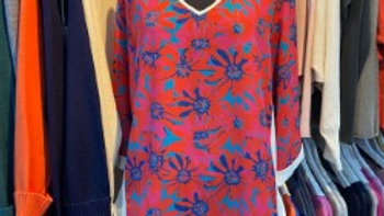 d.e.c.k Clothing Silky Crepe Floral Tunic