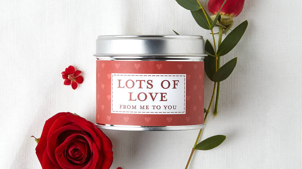 Lots of Love Tin Candle