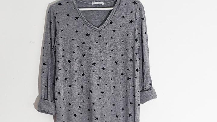 Fine Knit Star Jumper with Sparkle Edging