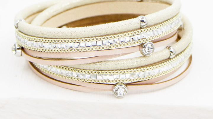 Rose Gold Multiband Bracelet
