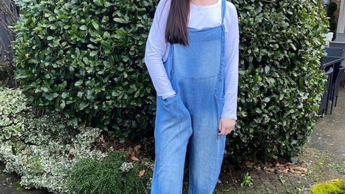 Vintage Look Cotton Denimn Dungarees