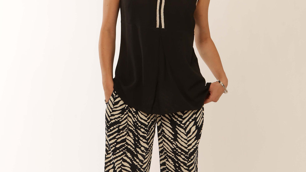 Luxury Culottes in Black or Zebra Print