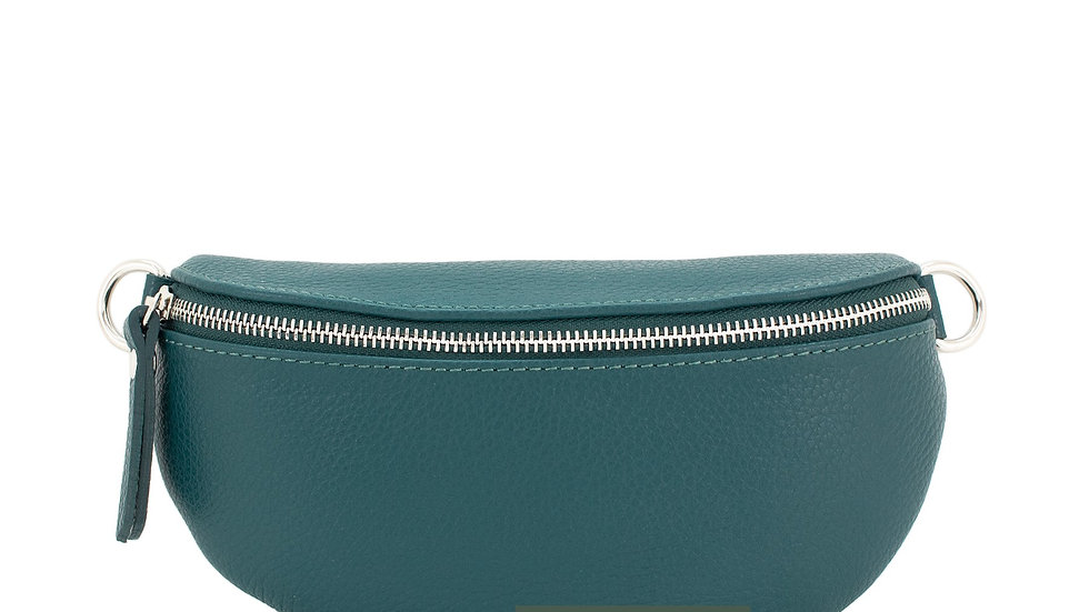 Real Leather Belt Bag - Teal