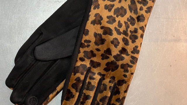 Lovely Soft Touch Screen Animal Print Gloves