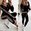 Thumbnail: Plain Trackie with Wide Side Stripe Animal Print