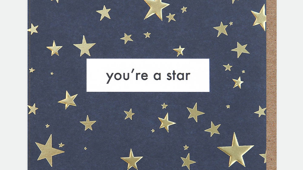 You're A Star Congratulations Card