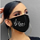Thumbnail: Black Diamante Face Covering (Assorted Designs)