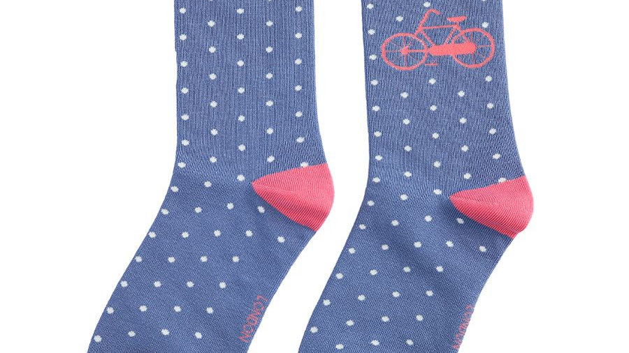 Ladies Bicycle Bamboo Socks