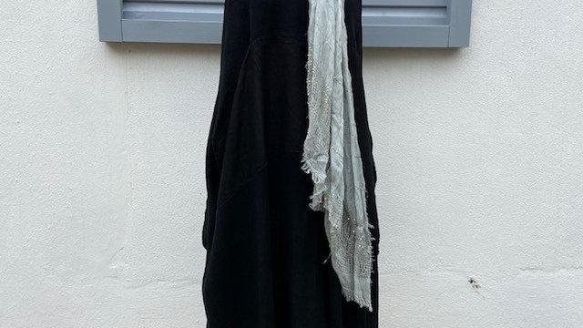Black Honeycomb Tulip Dress