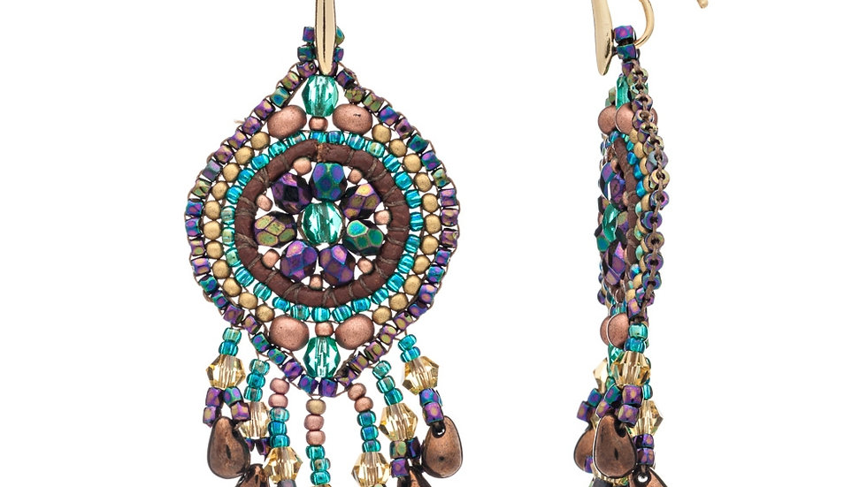 Boho Valdiva 22ct Statement Earring by Azuni