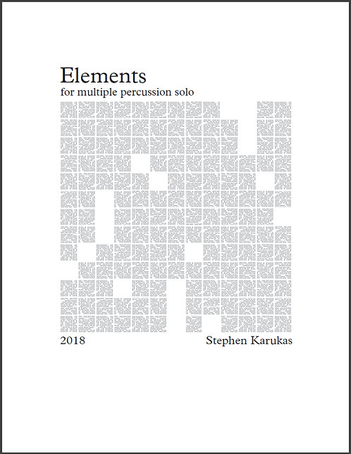 [PDF] Elements, Karukas (Multi-perc solo)