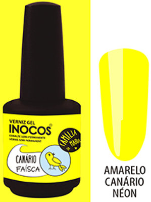 VERNIZ GEL INOCOS CANÁRIO FAÍSCA CAP.: 15 ML