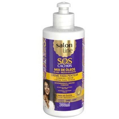 Salon Line Creme De Pentear Sos Mix Óleos Nutritivos  300ml