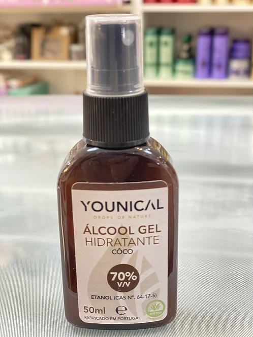 Álcool gel coco 50ml Younical