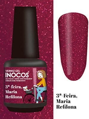 VERNIZ GEL INOCOS 3ª-FEIRA, MARIA REFILONA CAP.: 15ML