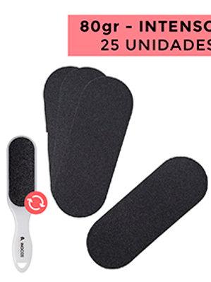 RECARGAS LIMAS DE PÉS - USO INTENSO - 80 - PACK 25 UNIDADES CAP.: 25