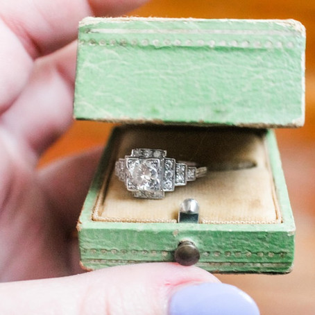 My Stunning Antique Engagement Ring!
