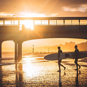 Surfers of Boscombe Pier