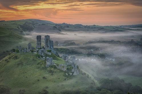 Corfe Castle in the Mist - 009