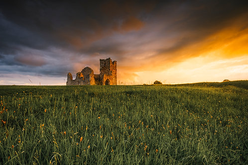 Stormy Sunset at Knowlton - 006