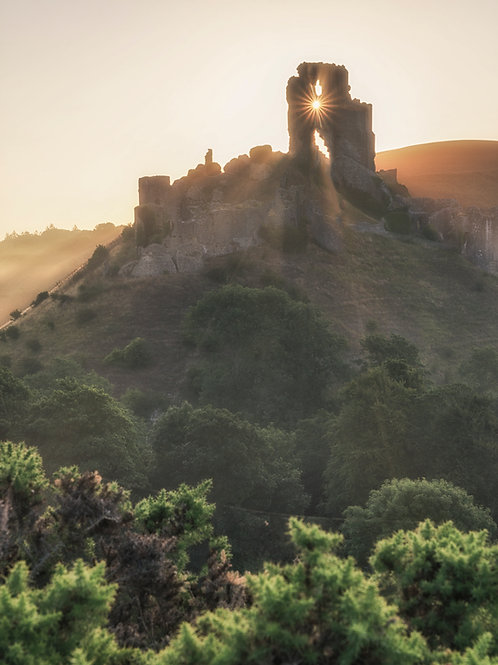 Corfe Castle Sunburst - 017