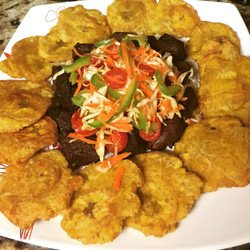 fried with fried beef meat