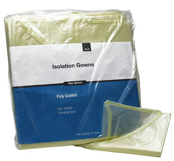 Latex-Free Isolation Gown [Case of 50]