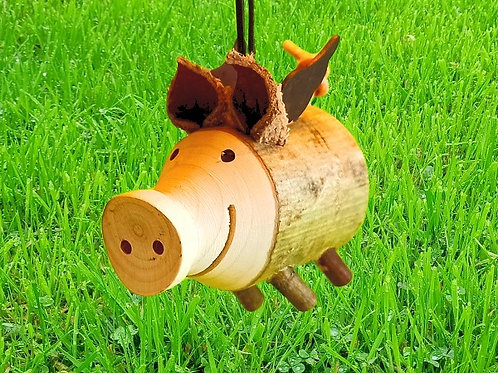 Glücksschwein aus Holz