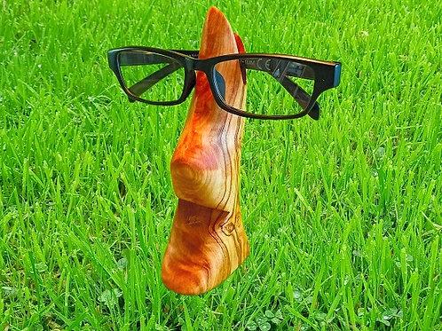 Brillenhalter aus Olivenholz