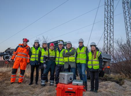 First prototype installed at Landsnet's high voltage line